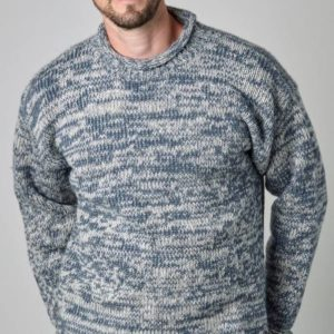 MULTI COLOURED JUMPERS BLUE/WHITE