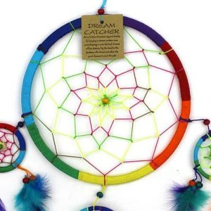 Large Bright Rainbow Dreamcatcher
