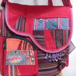 Patchwork Flap Front Bag - 100% Cotton