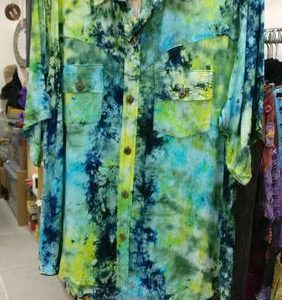 BRIGHT SUMMER SHIRT GREEN/BLUE