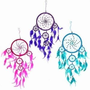 Bali Dreamcatchers – Large Round – Turq/Pink/Purp
