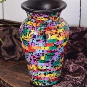 Rainbow Mosaic Vase