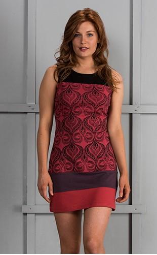 Cotton Jersey Sleeveless Dress with Print