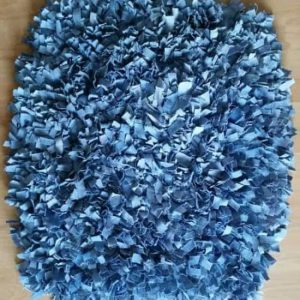 Blue Denim Rag Rug