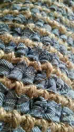 Blue Denim Rag Rug