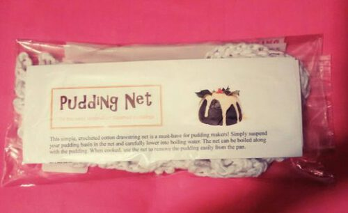 Steamed Pudding Net: for taking a steamed pudding out of the pan