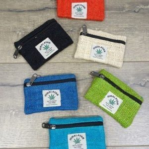 Coloured Hemp Purse 11.5 x 8.5cm – Assorted Colours