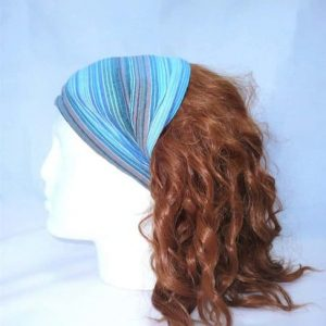 Stripe cotton elasticated headband