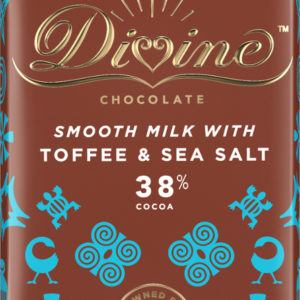 Divine Fair Trade Milk Toffee and Sea Salt Chocolate 90g