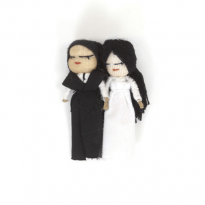 Wedding worry dolls with magnet – Bride & Groom