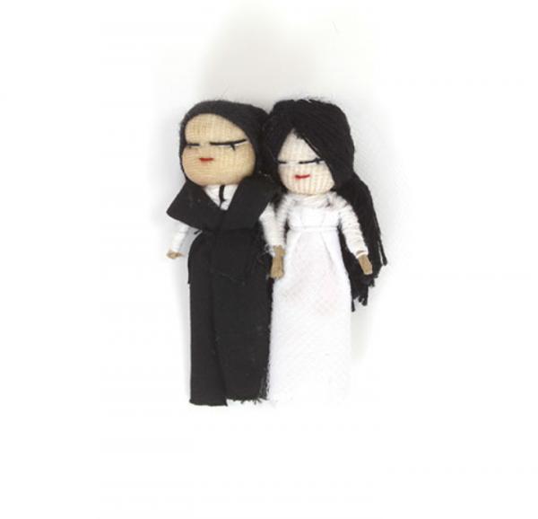 Wedding worry dolls with magnet – Bride & Groom