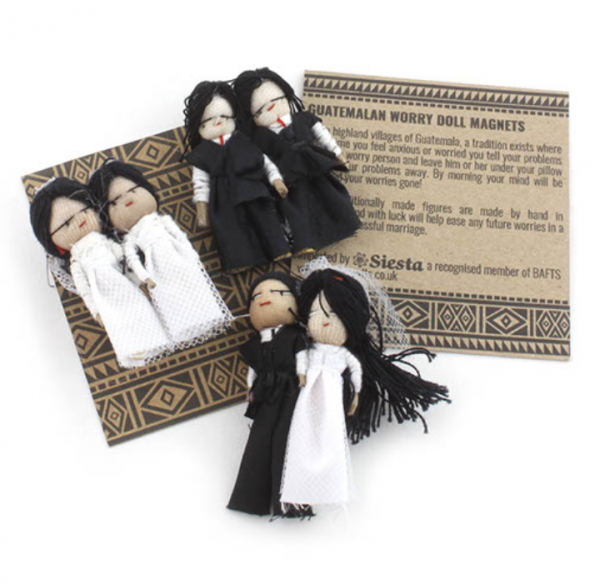 Wedding worry dolls with magnet – Two Grooms