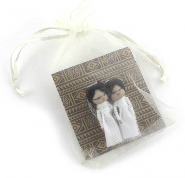 Wedding worry dolls with magnet – Two Brides